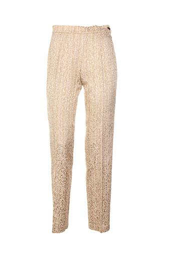 legatte pantalons femme de couleur beige