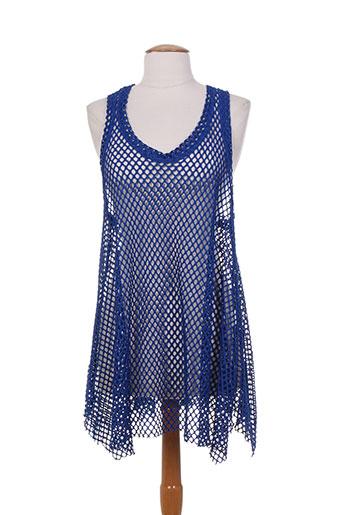 franck anna chemises femme de couleur bleu