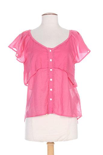 rivieres de lune chemises femme de couleur rose