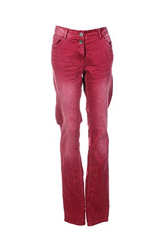 cecil jeans femme de couleur rouge