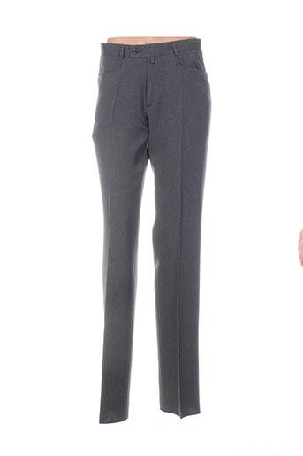 nino loretti pantalons homme de couleur gris