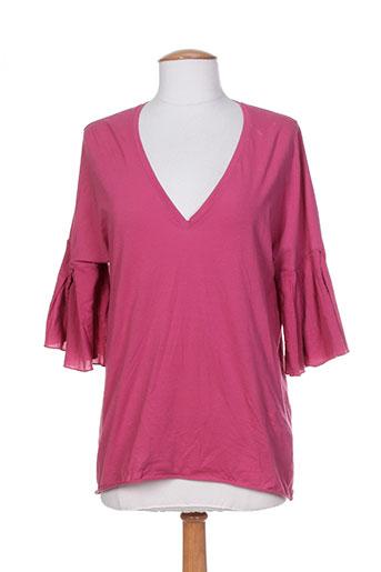 T-shirt manches courtes rose DEVOTION pour femme