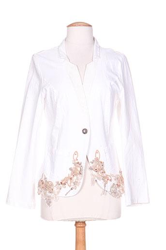 marilu vestes femme de couleur blanc