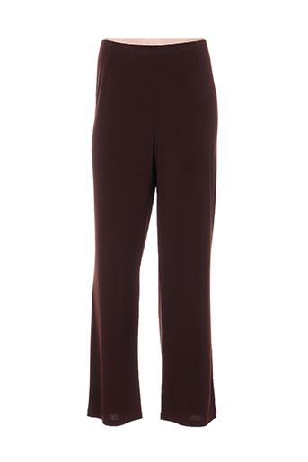 sergio ferrazzi pantalons femme de couleur marron