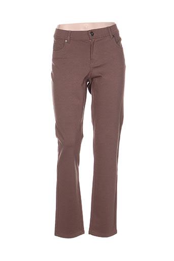 cmk pantalons femme de couleur marron