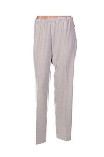 richy pantalons femme de couleur beige