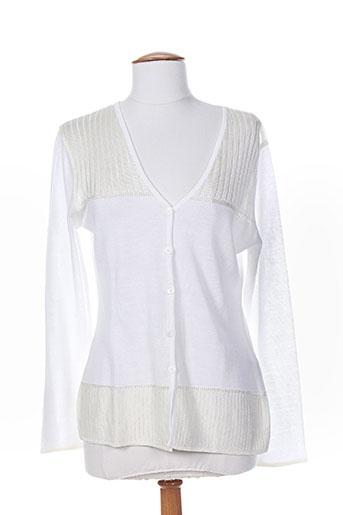 lilith gilets femme de couleur blanc