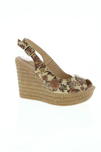 la fee maraboutee chaussures femme de couleur marron