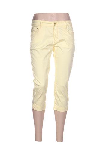 onado pantacourts femme de couleur jaune