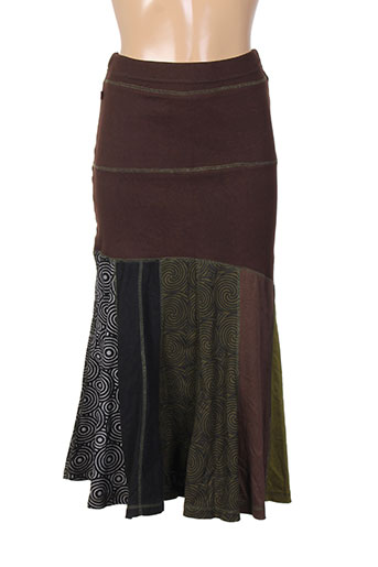 bamboo's jupes femme de couleur marron