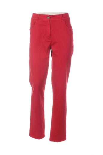pause cafe pantalons femme de couleur rouge