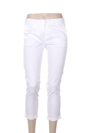 benetton pantacourts femme de couleur blanc