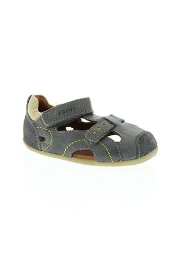 bobux chaussures garçon de couleur gris