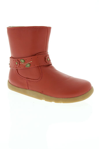 bobux chaussures fille de couleur rouge
