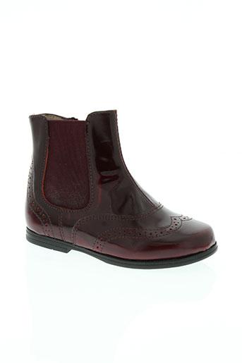 unisa chaussures fille de couleur rouge