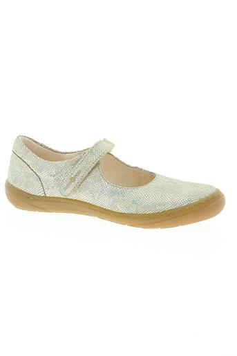 shoo pom chaussures fille de couleur beige