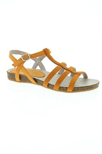 unisa chaussures fille de couleur orange