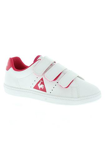 le coq sportif chaussures fille de couleur blanc