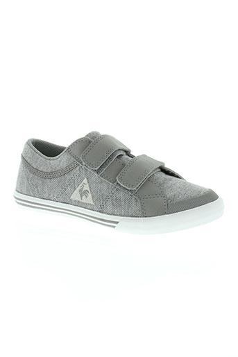 le coq sportif chaussures fille de couleur gris