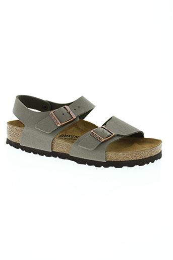 birkenstock chaussures garçon de couleur gris