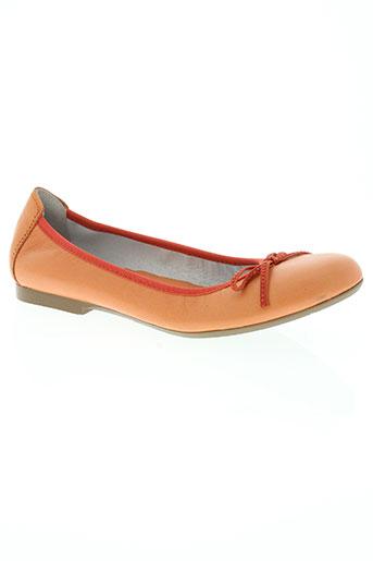 acebos chaussures fille de couleur orange