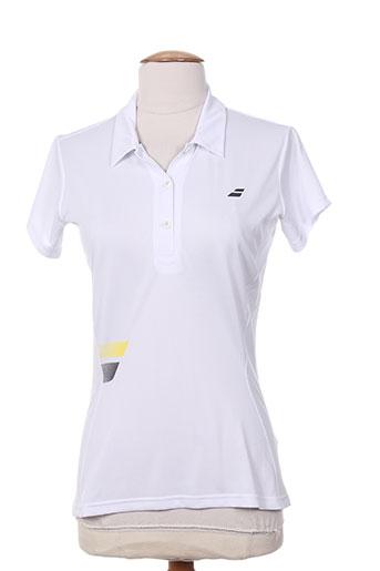 babolat t-shirts femme de couleur blanc