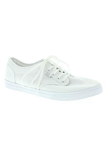 vans chaussures unisexe de couleur blanc