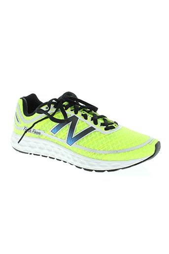 new balance chaussures homme de couleur jaune