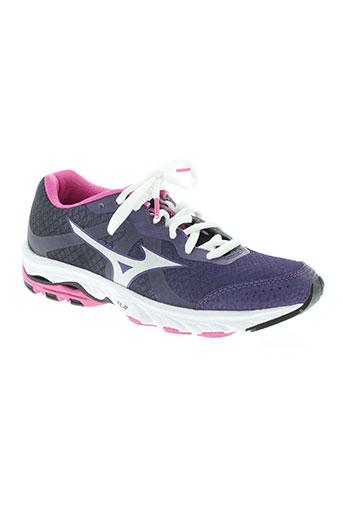mizuno chaussures femme de couleur violet