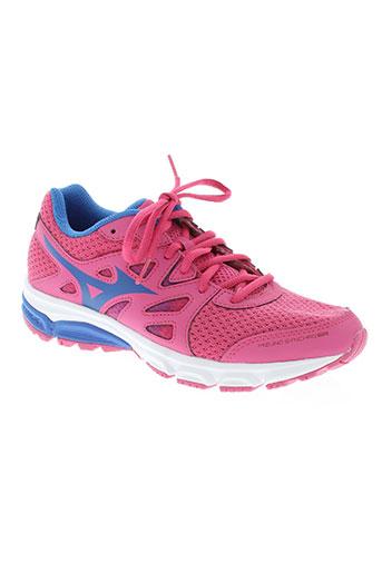 mizuno chaussures femme de couleur rose