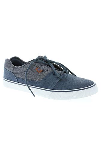 dc chaussures homme de couleur bleu