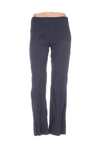 divertimento pantalons femme de couleur bleu
