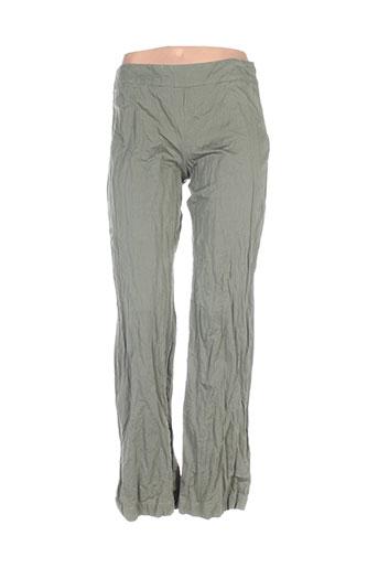Pantalon casual vert DIVERTIMENTO pour femme