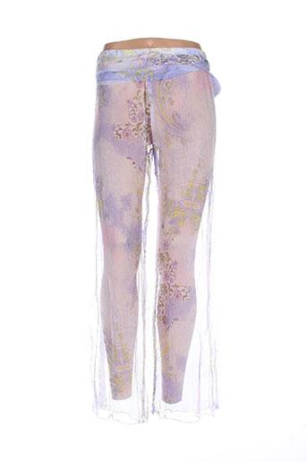 Pantalon casual violet DIVERTIMENTO pour femme