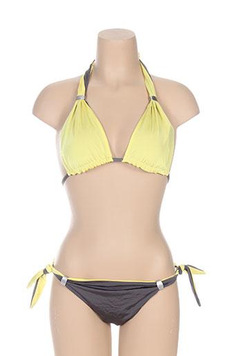 blue labster maillots de bain femme de couleur jaune