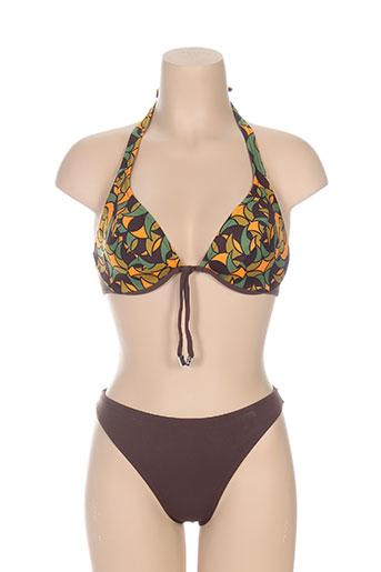 masquenada maillots de bain femme de couleur marron