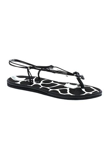 string tong chaussures femme de couleur noir