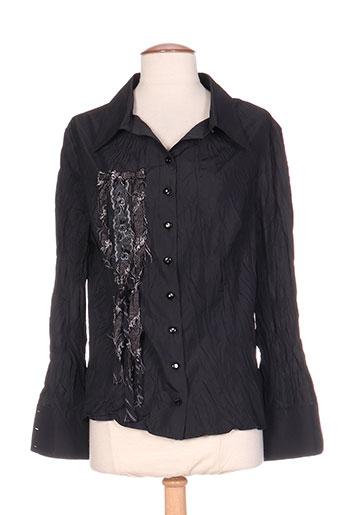 tilber chemises femme de couleur noir