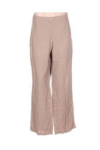 heteroclite pantalons femme de couleur beige