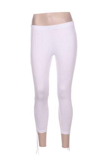 namaste pantalons femme de couleur blanc