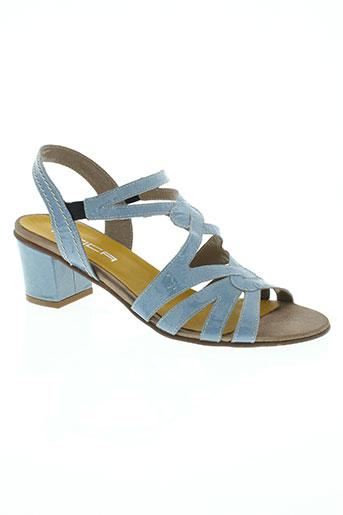 mitica chaussures femme de couleur bleu