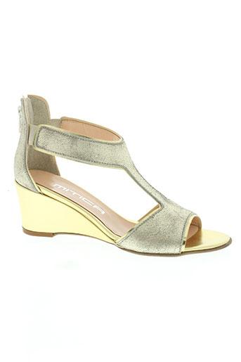 mitica chaussures femme de couleur jaune