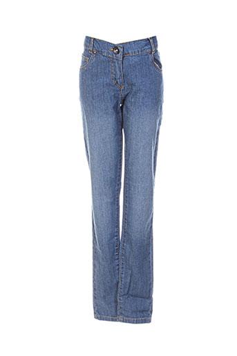 boboli jeans fille de couleur bleu