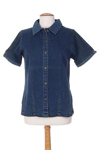 les marins de jac jac chemises femme de couleur bleu