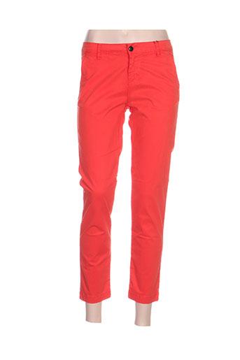 may&june pantalons femme de couleur rouge