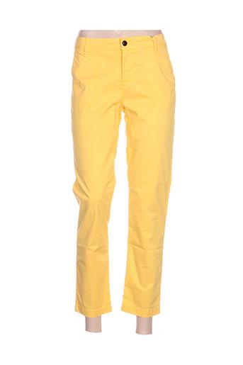 may&june pantalons femme de couleur jaune