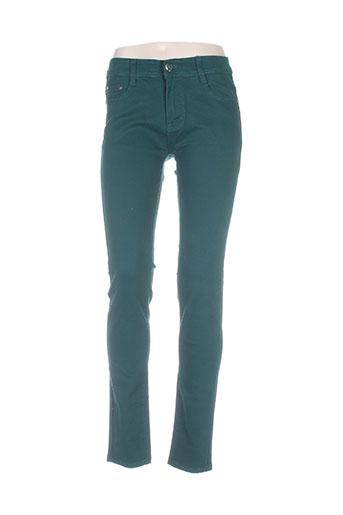bs jeans jeans femme de couleur vert