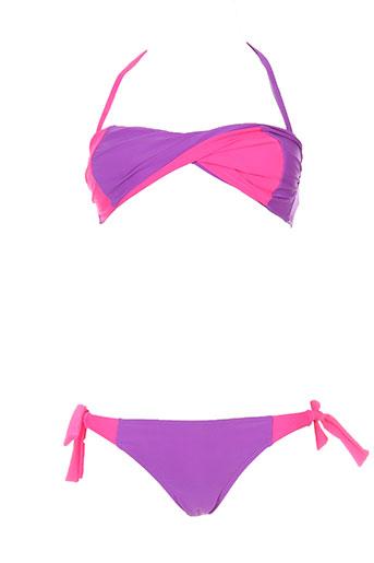 mondaca maillots de bain fille de couleur violet