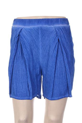 et si.... shorts / bermudas femme de couleur bleu