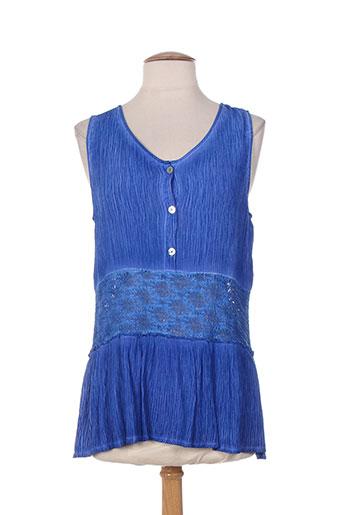 et si.... chemises femme de couleur bleu